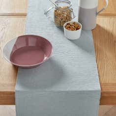 Duck Egg Ribbed Table Runner