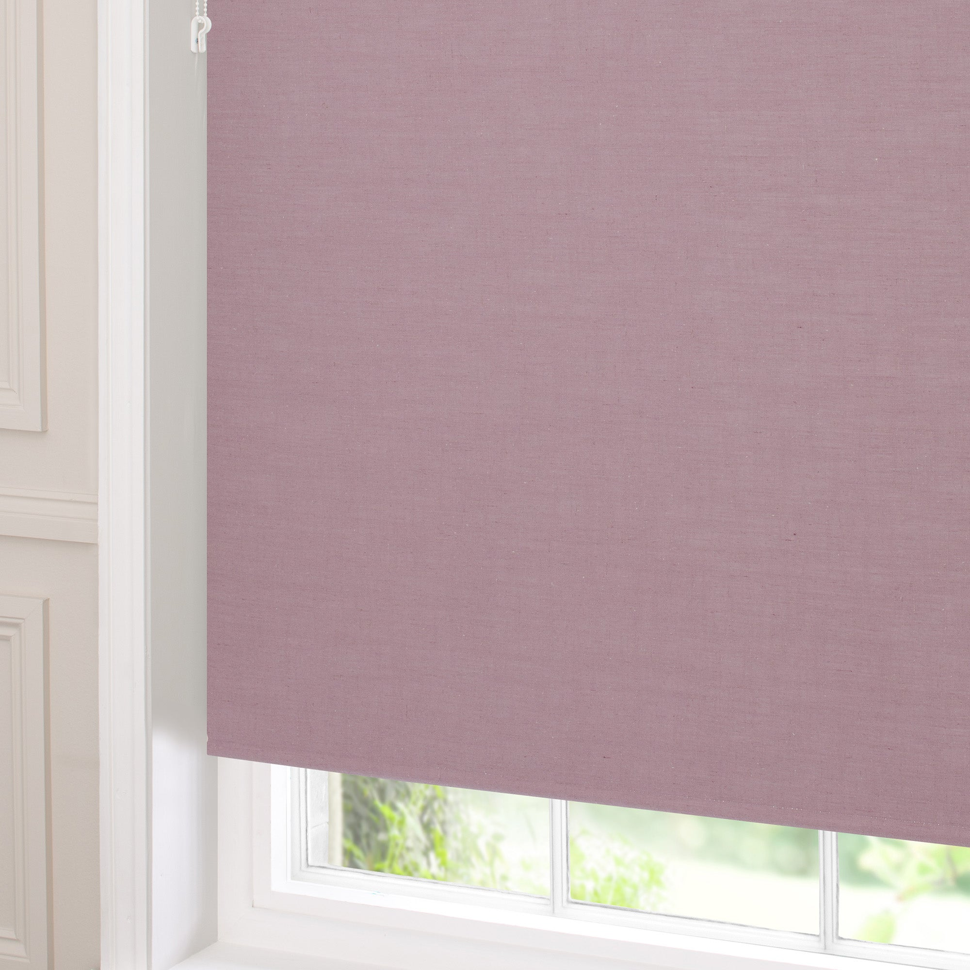 mauve blackout linen roller blind dunelm. Black Bedroom Furniture Sets. Home Design Ideas