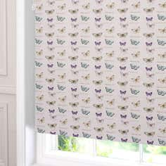 Linen Butterflies Blackout Roller Blind