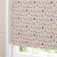 Woodland Fox Blackout Roller Blind