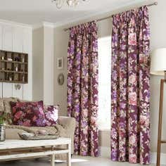 Plum Bloom Lined Pencil Pleat Curtains