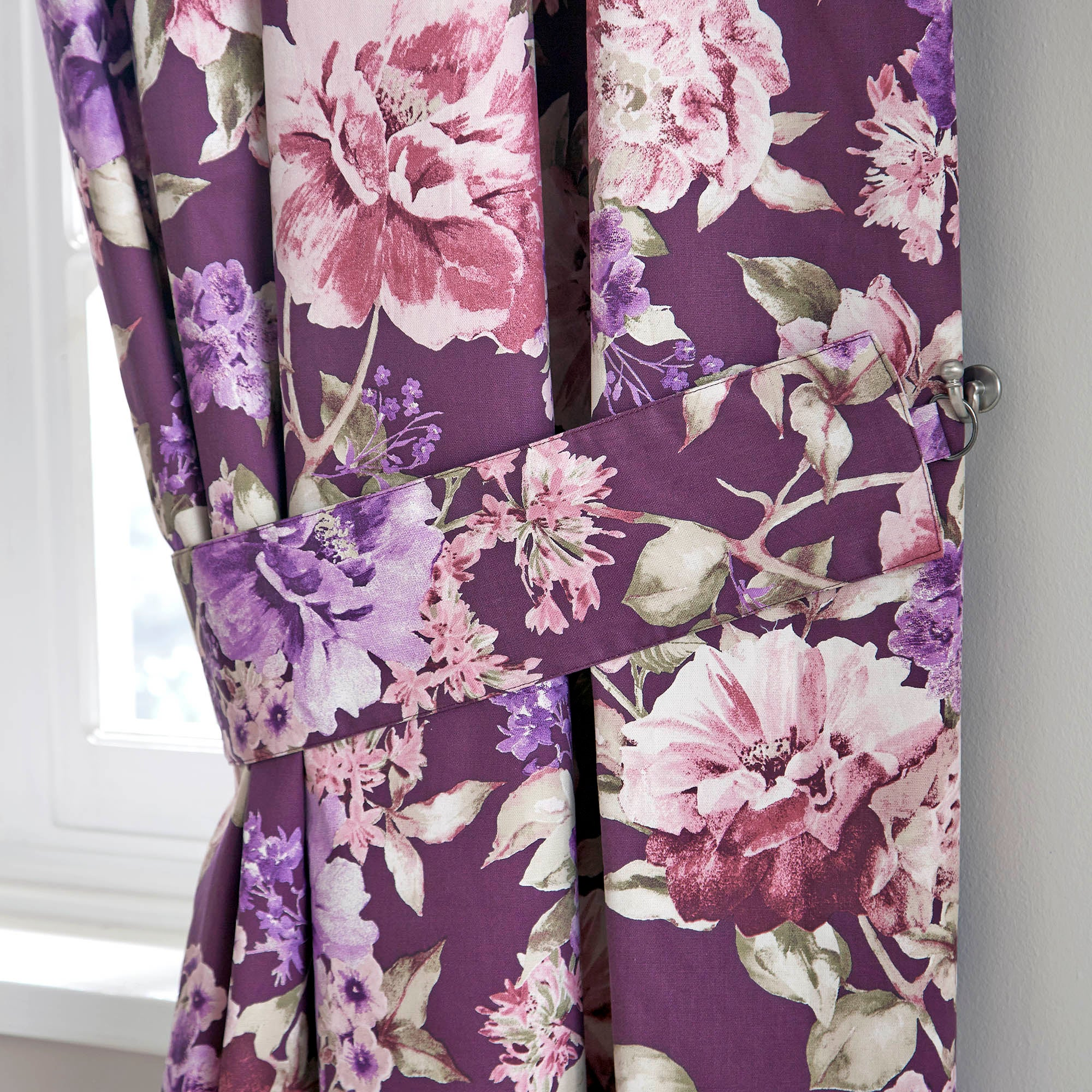 Plum Bloom Collection Tiebacks