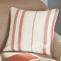 Red Country Stripe Collection Cushion