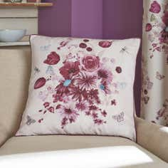 Mauve Flourish Collection Cushion