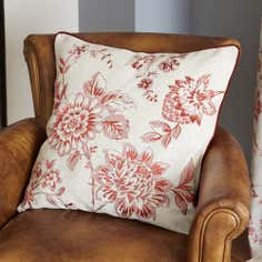 Red Genevieve Cushion