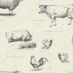 Natural Farmyard Cotton Fabric