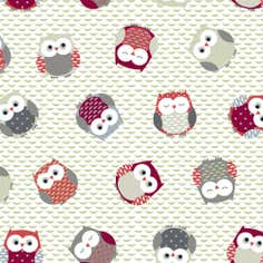 Owls PVC Fabric