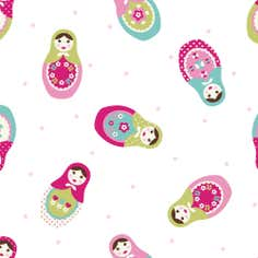 Russian Dolls PVC Fabric
