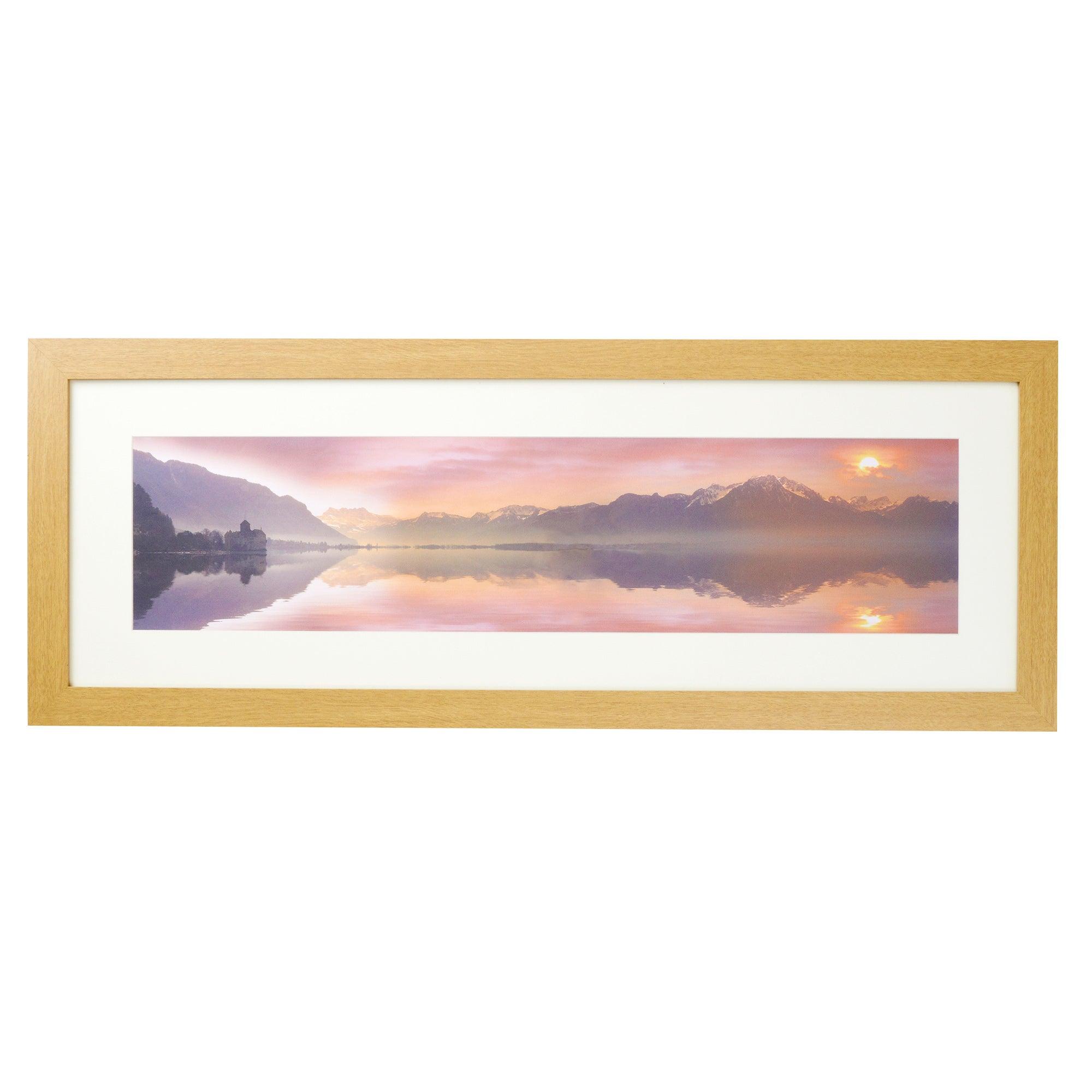Pink Sky Landscape Framed Print