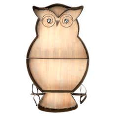 Brown Owl Metal Wall Art