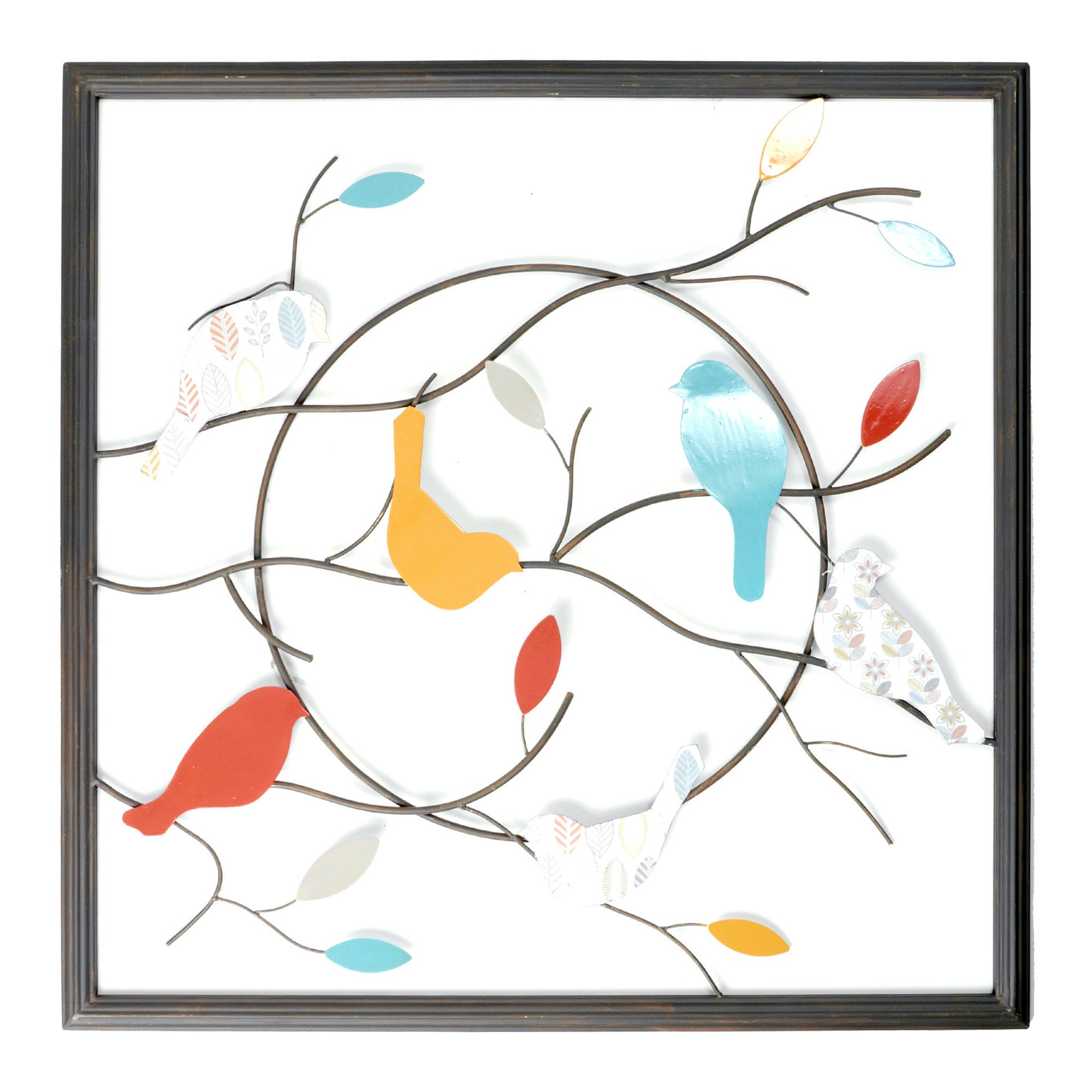 Cosy Skandi Birds Metal Wall Art