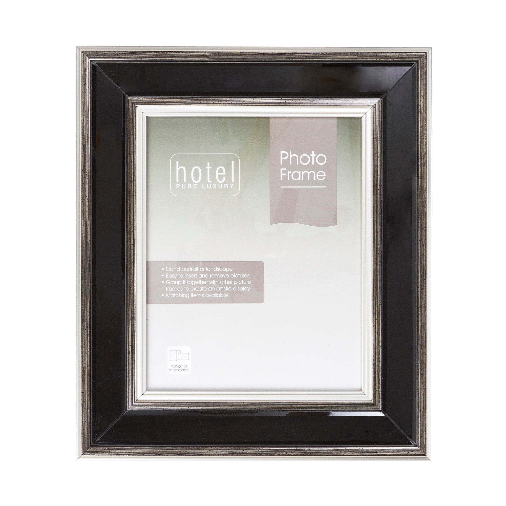 Hotel Collection Black Glass Photo Frame