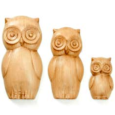 Wall Hanging Set of Three Owls
