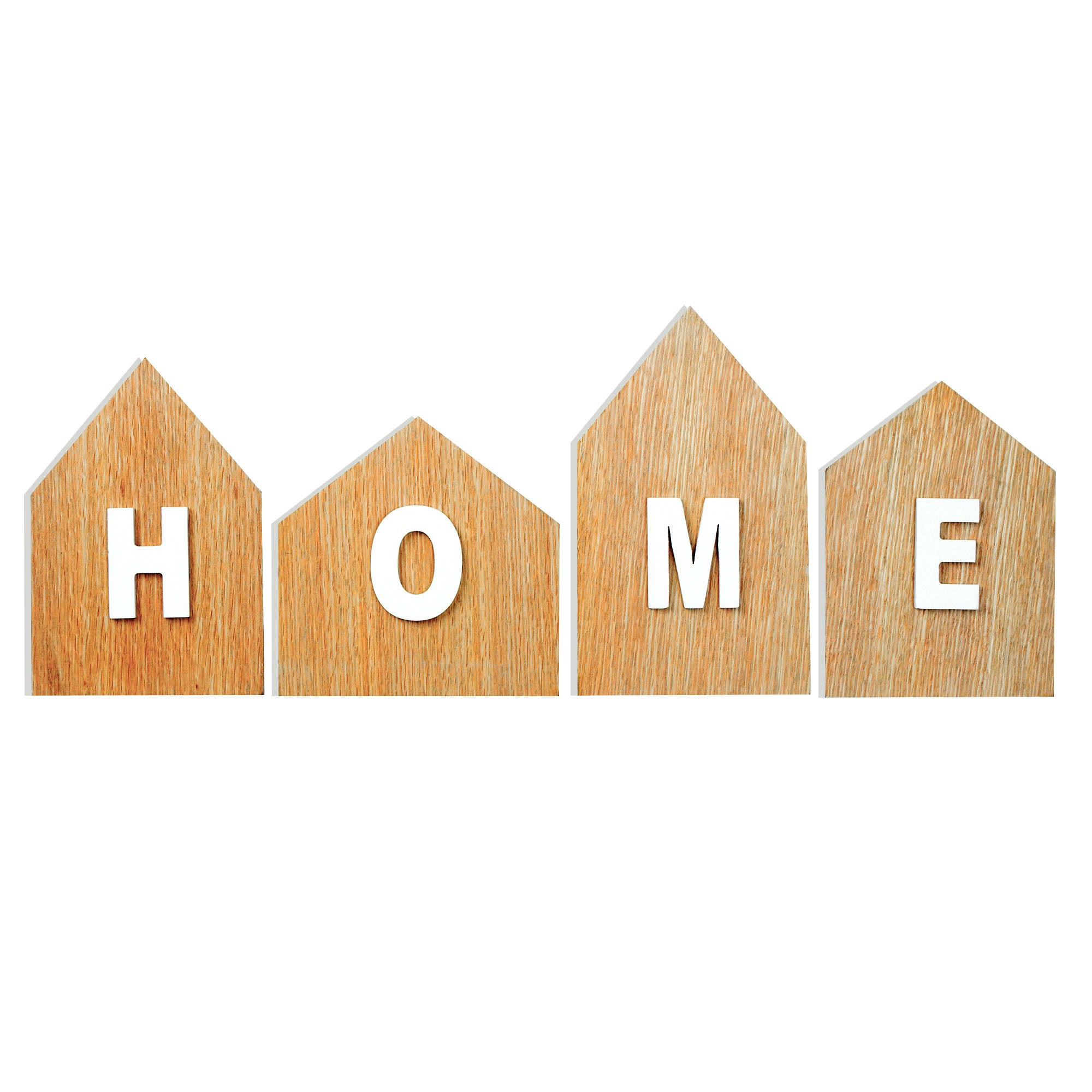 Houses Wooden Wall Art