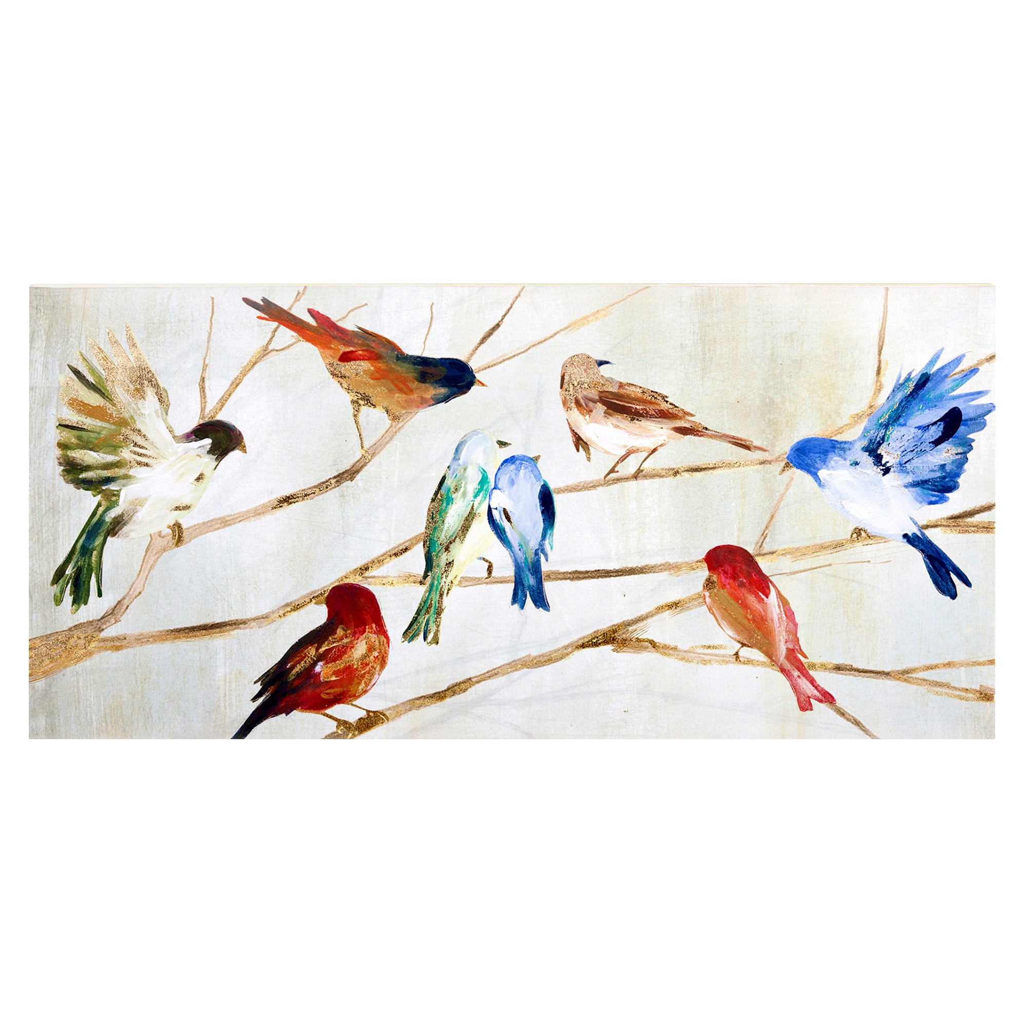 Birds on a Branch Printed Canvas