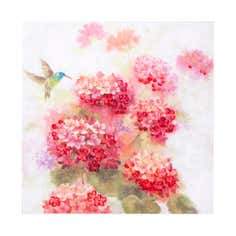Bird and Bright Flowers Canvas