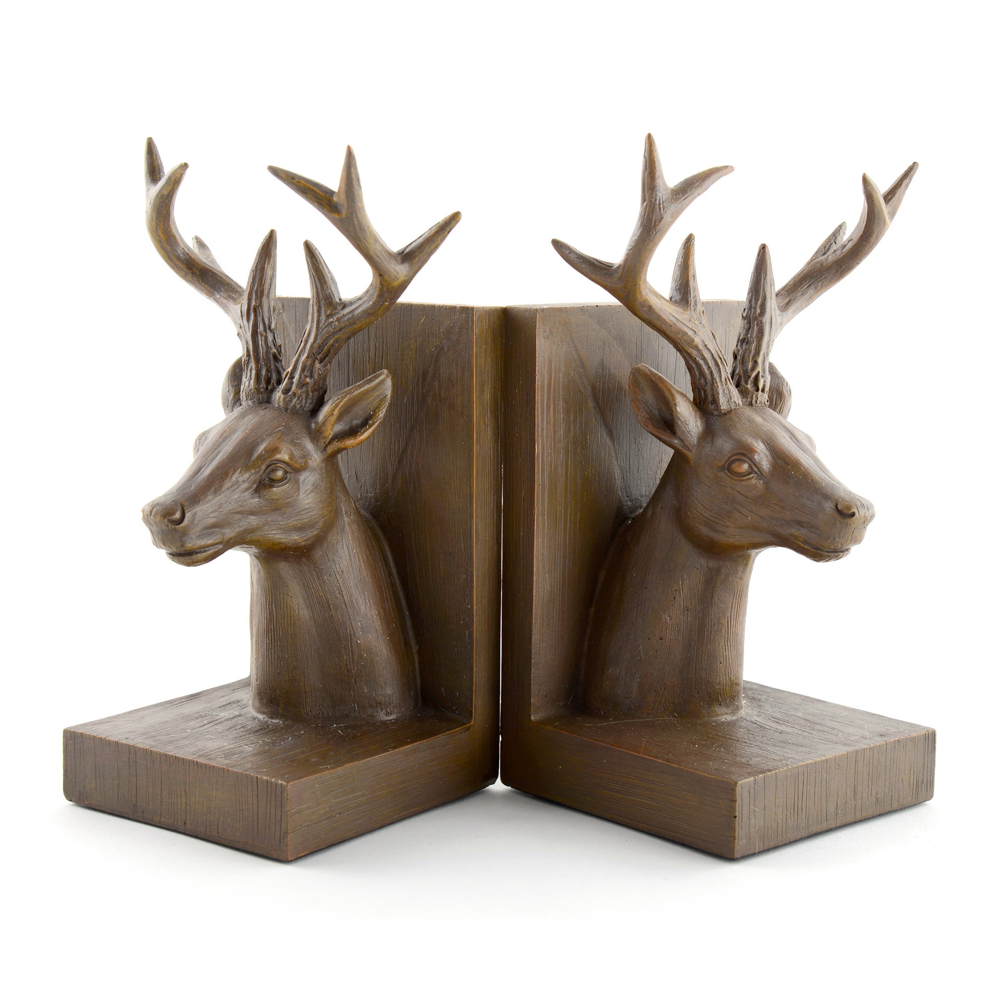 Rustic Ramble Collection Brown Stag Bookends Set