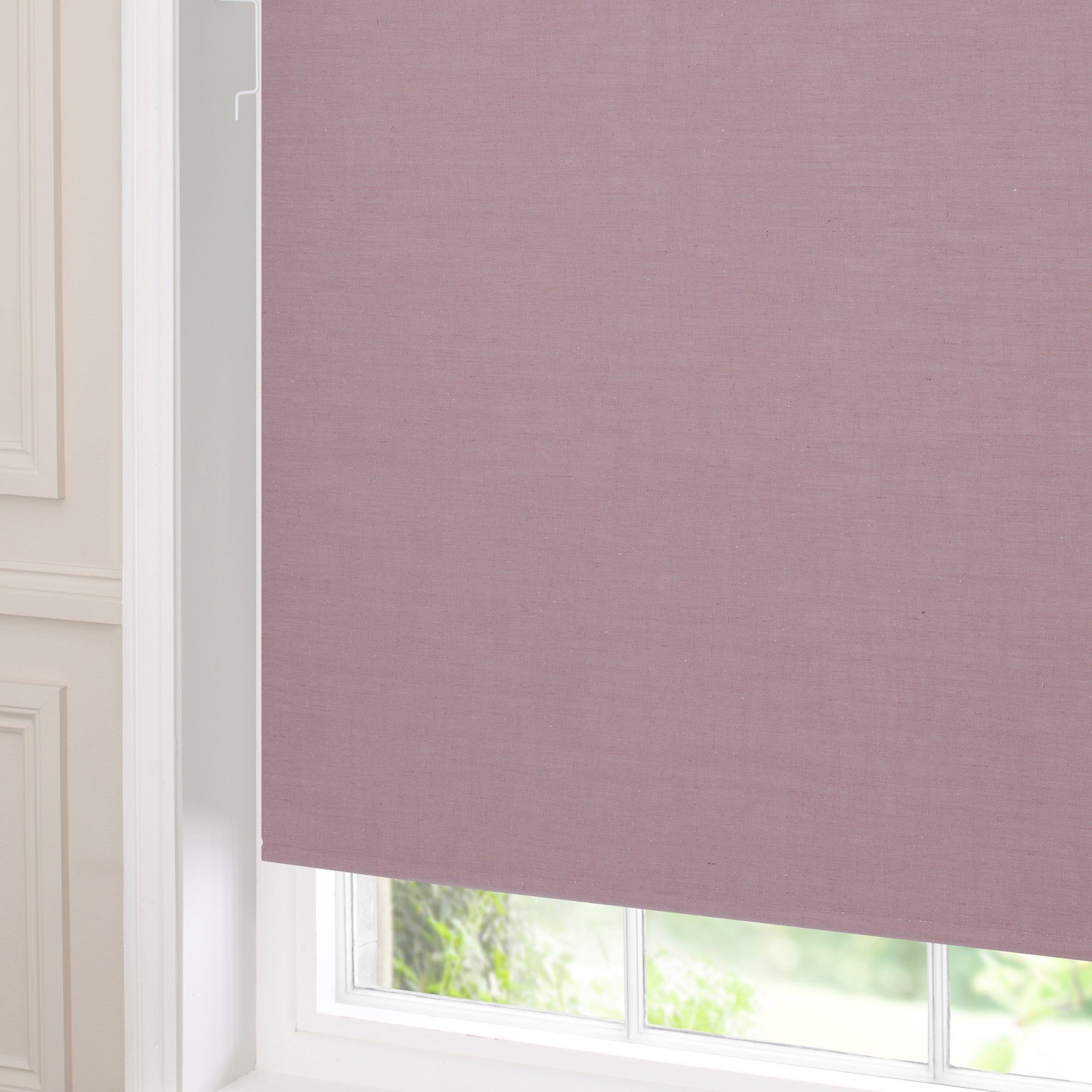 Mauve Blackout Cordless Linen Roller Blind