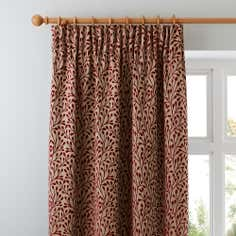 Red Willow Lined Pencil Pleat Curtains