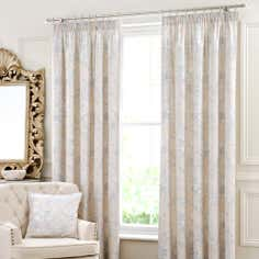 Blue Mariella Lined Pencil Pleat Curtains
