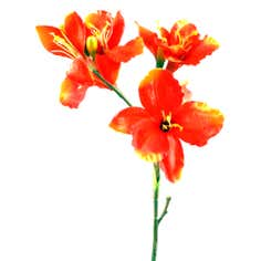 Orange Lily Three Head Spray