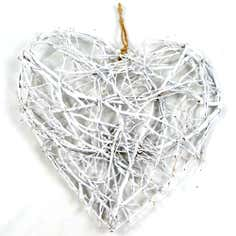 White Birch Hanging Heart