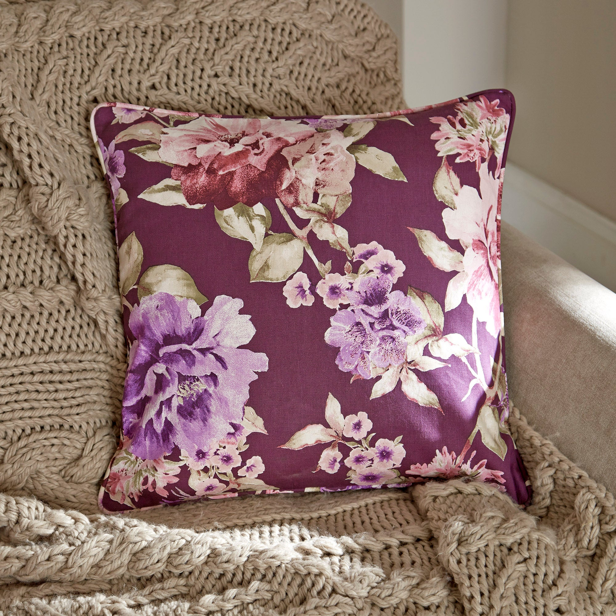 Plum Bloom Collection Small Cushion