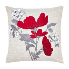 Red Poppy Fields Collection Cushion