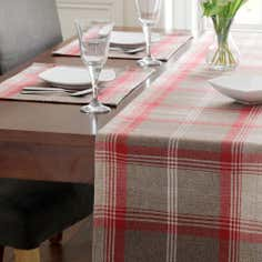 Tartan Rosso Table Runner