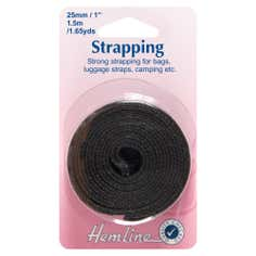 Hemline Black Strapping