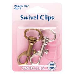 Hemline Bronze and Metal Swivel Clip