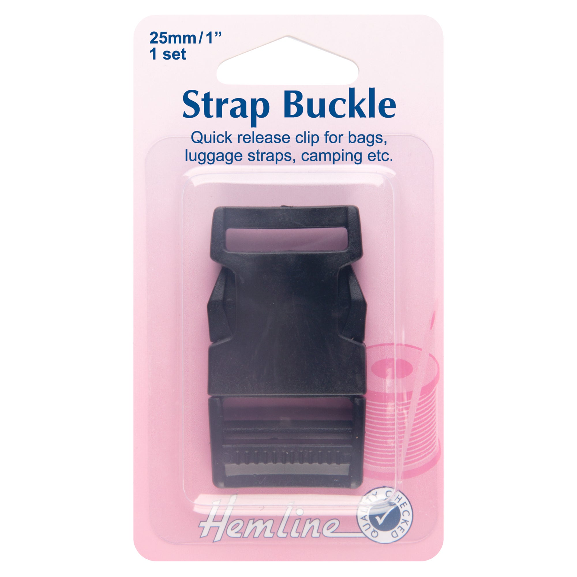 Hemline Strap Buckle Black
