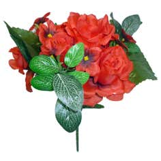 Artificial Rose and Ivy Flower Bundle