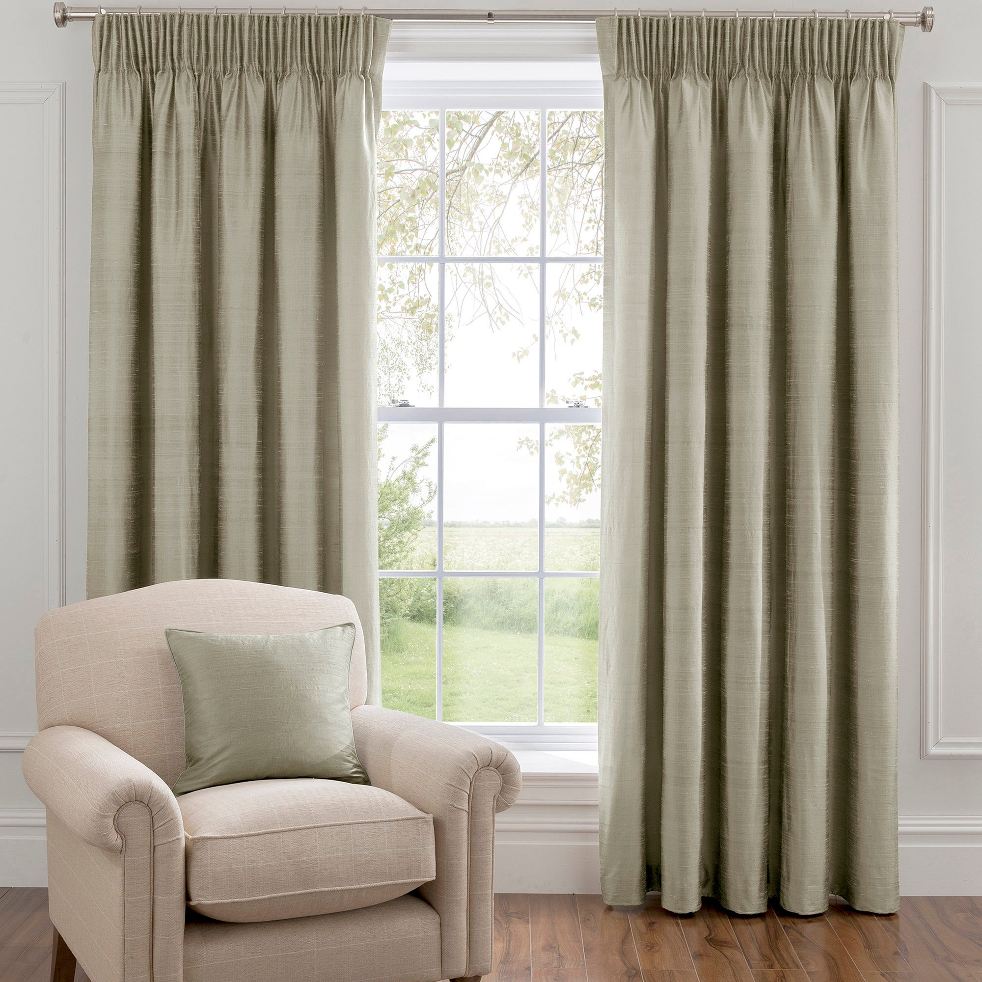 Dorma Duck Egg Beresford Lined Pencil Pleat Curtains