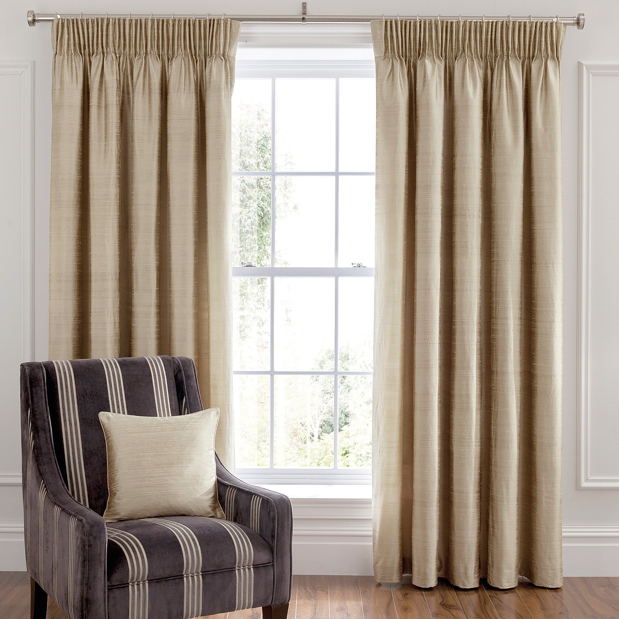 Dorma Champagne Beresford Lined Pencil Pleat Curtains