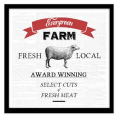 Evergreen Farm Framed Print