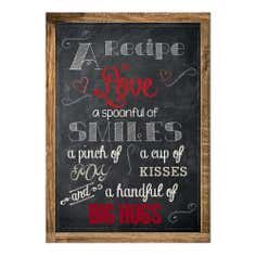 Farmstead Collection Chalkboard Printed Canvas