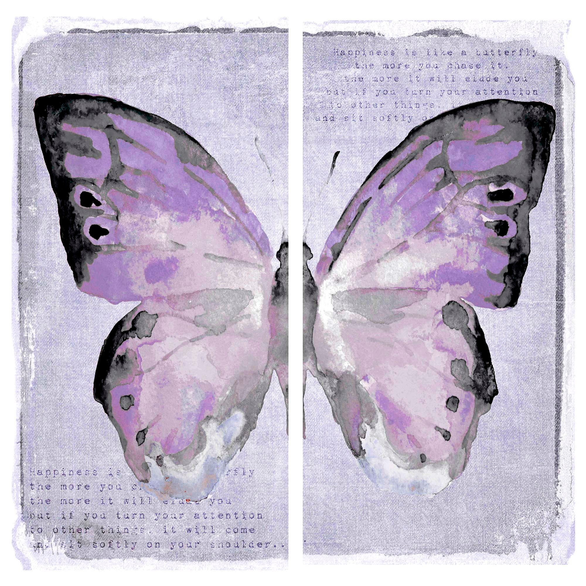 Butterflies Printed Canvas