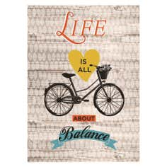 Life Is All About Balance Printed Canvas