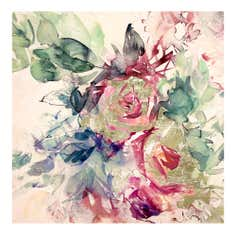 Floral Foil Effect Canvas