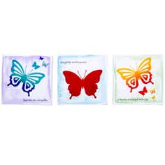 Kids Bright Butterflies Collection Printed Canvas