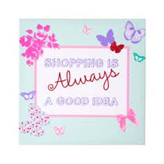 Kids Love to Shop Collection Glitter Canvas