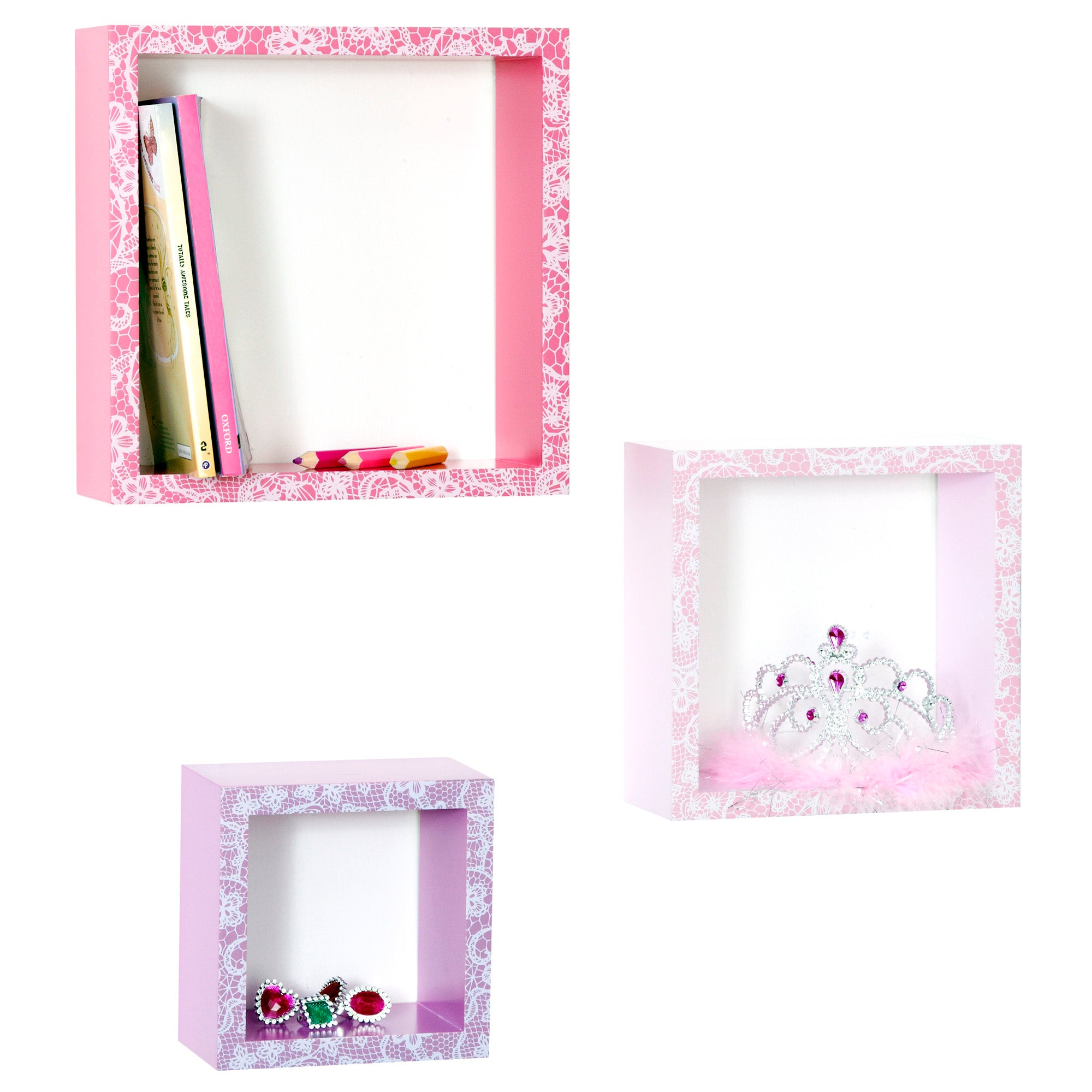 Kids Pretty Princess Collection 3 Box Shelves