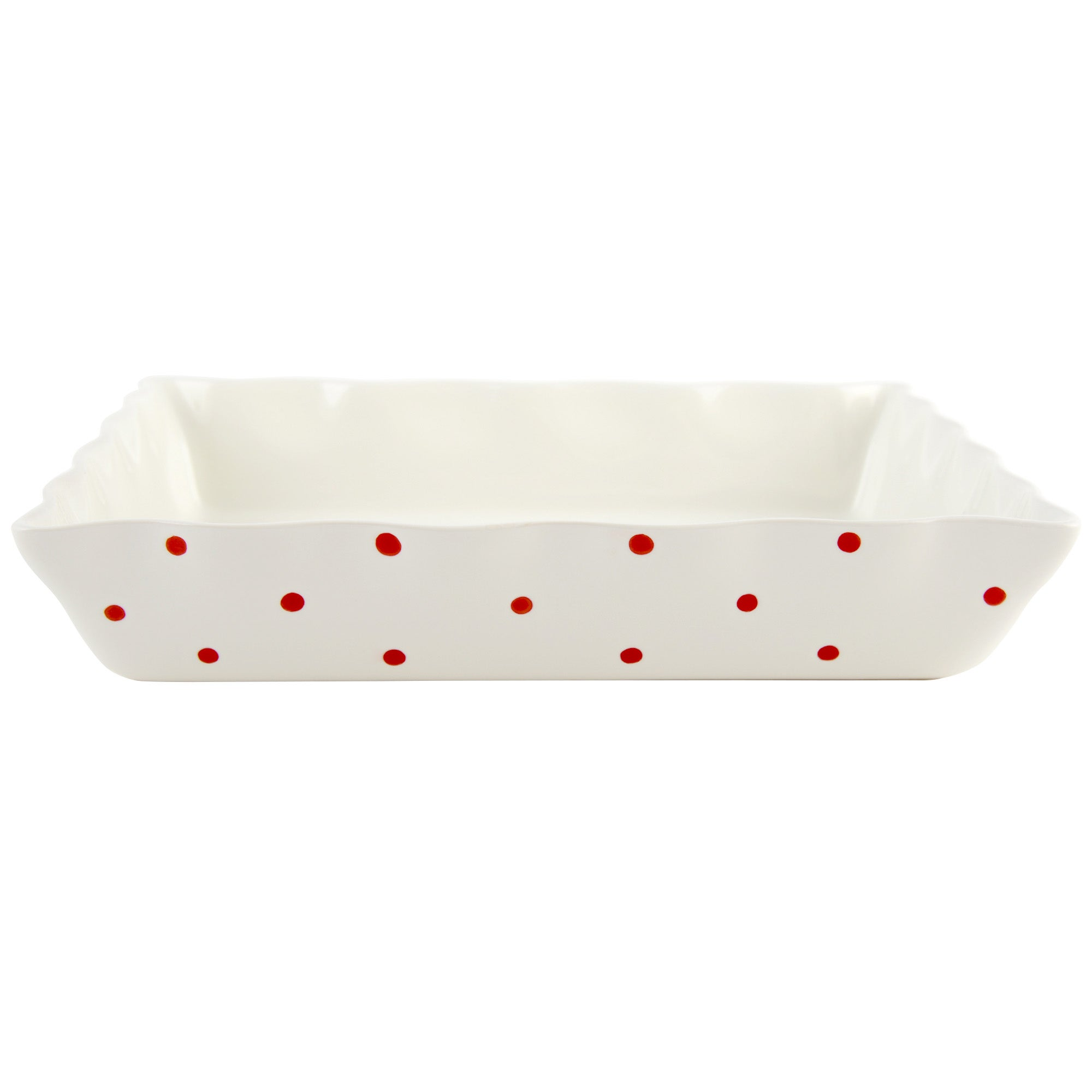 Red Farmstead Collection Rectangular Dotty Roaster