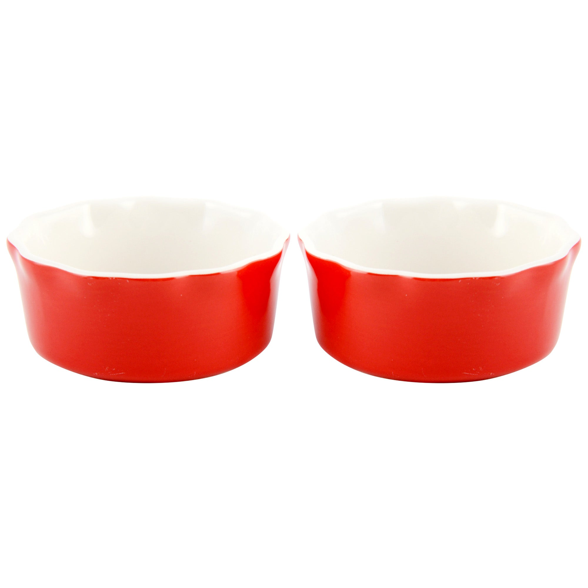 Red Farmstead Collection Set of 2 Ramekins