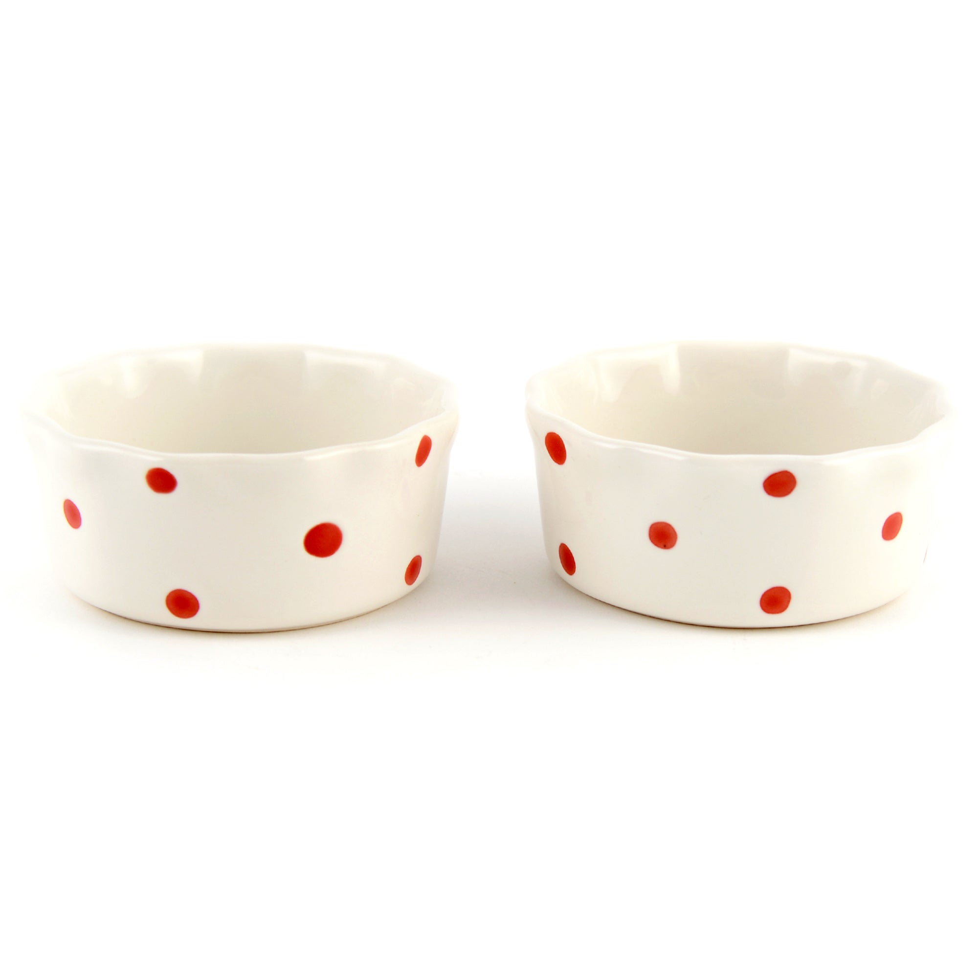 Farmstead Collection Set of 2 Dotty Ramekins