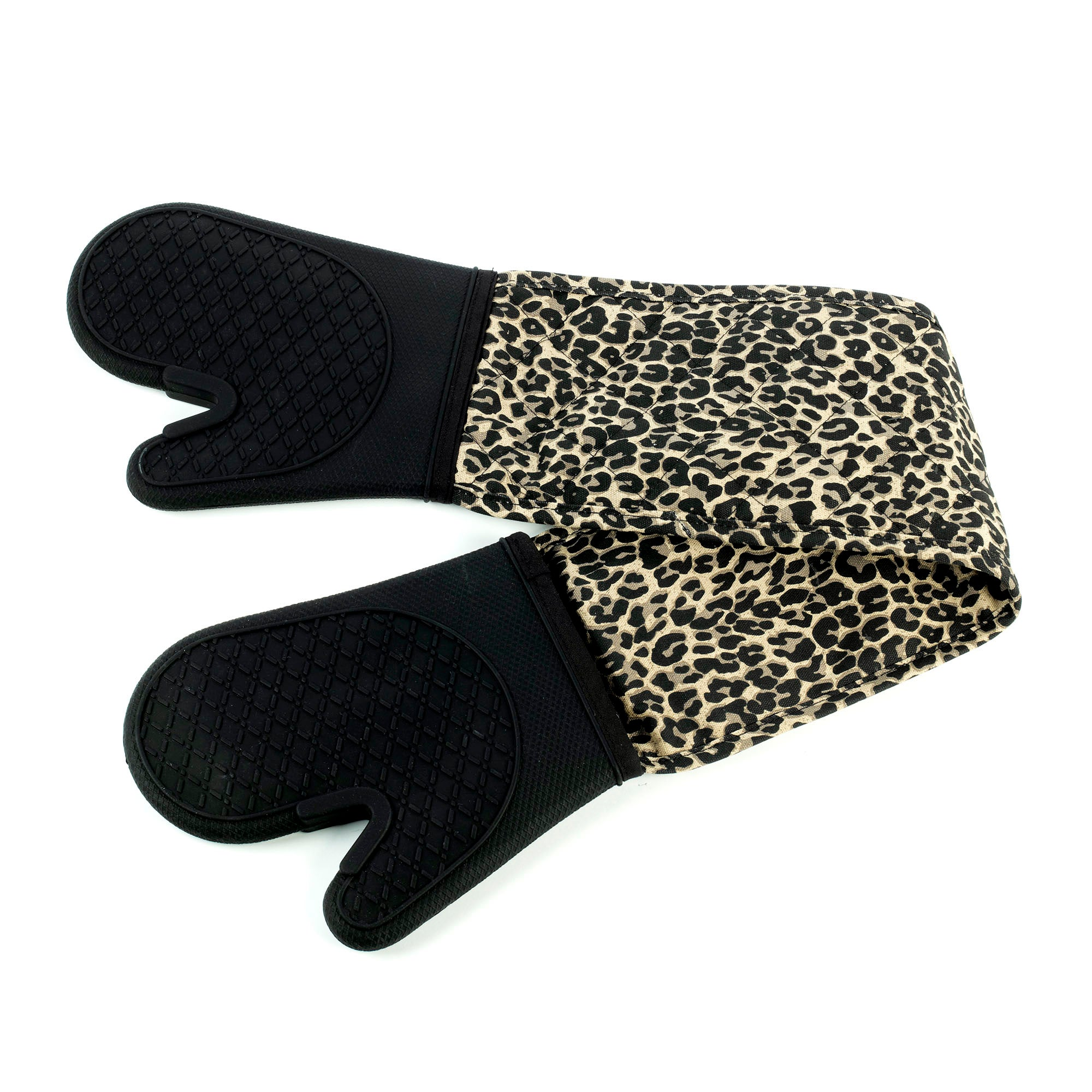 Leopard Double Silicone Oven Glove