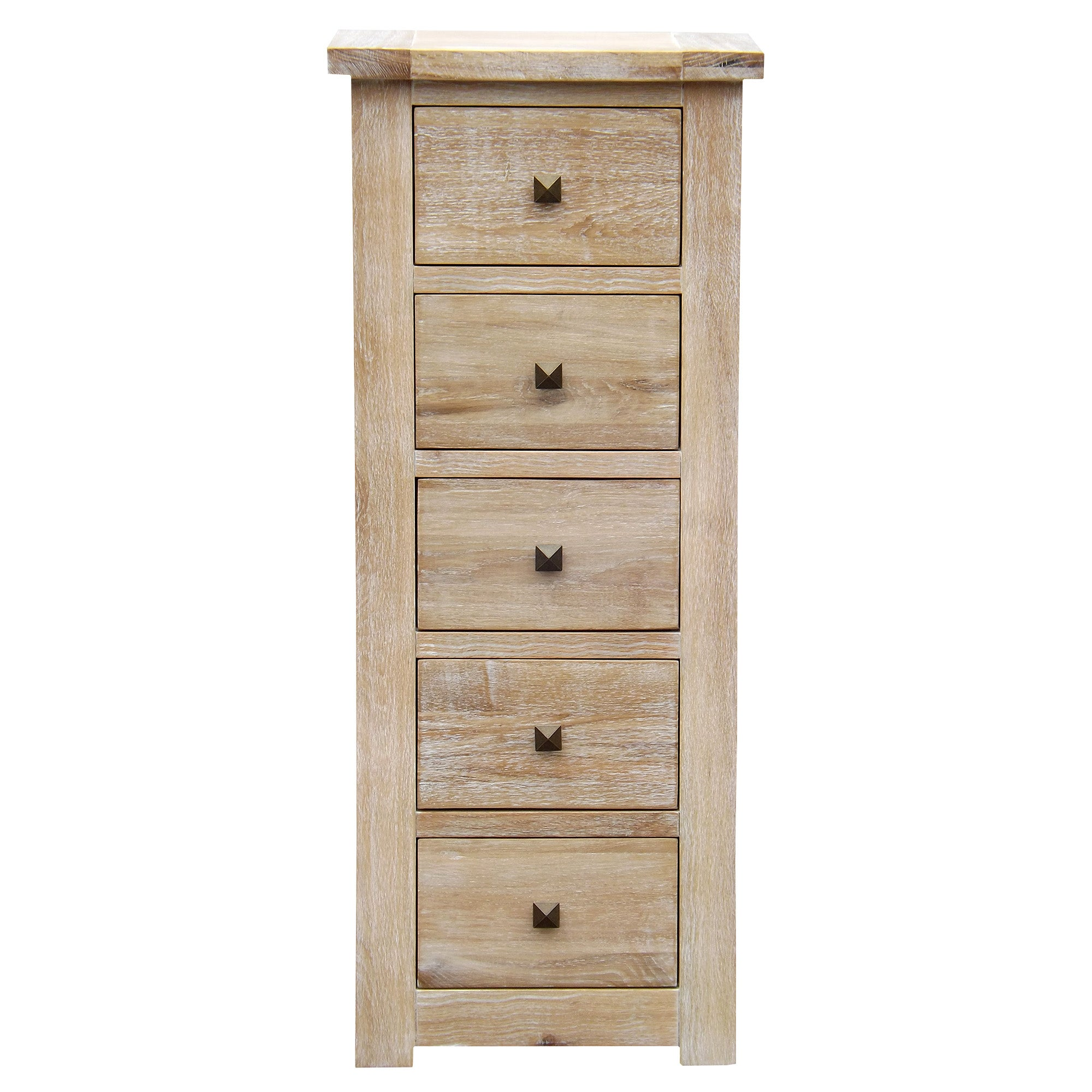 Henley Oak 5 Drawer Tallboy