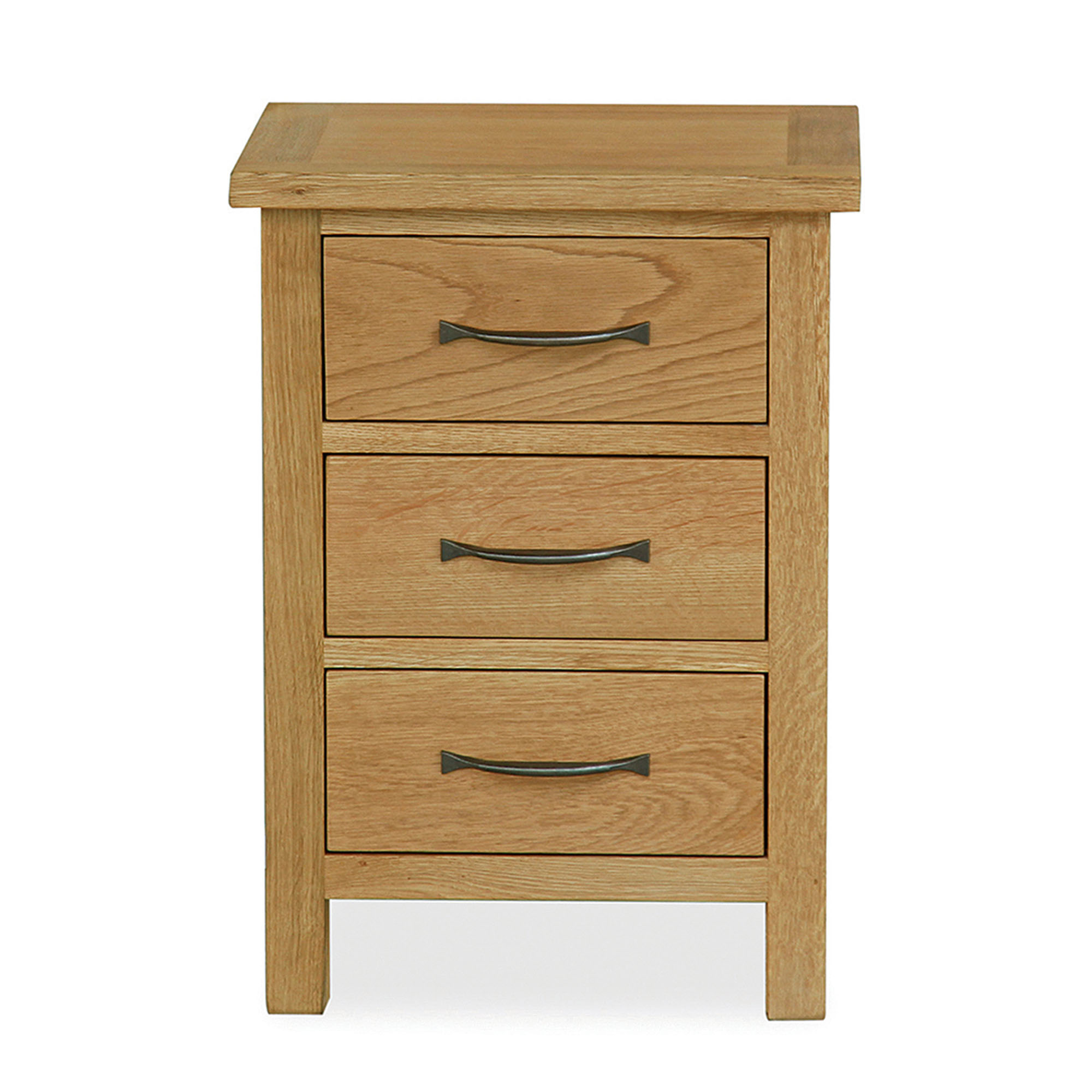 Sidmouth Oak 3 Drawer Bedside Chest