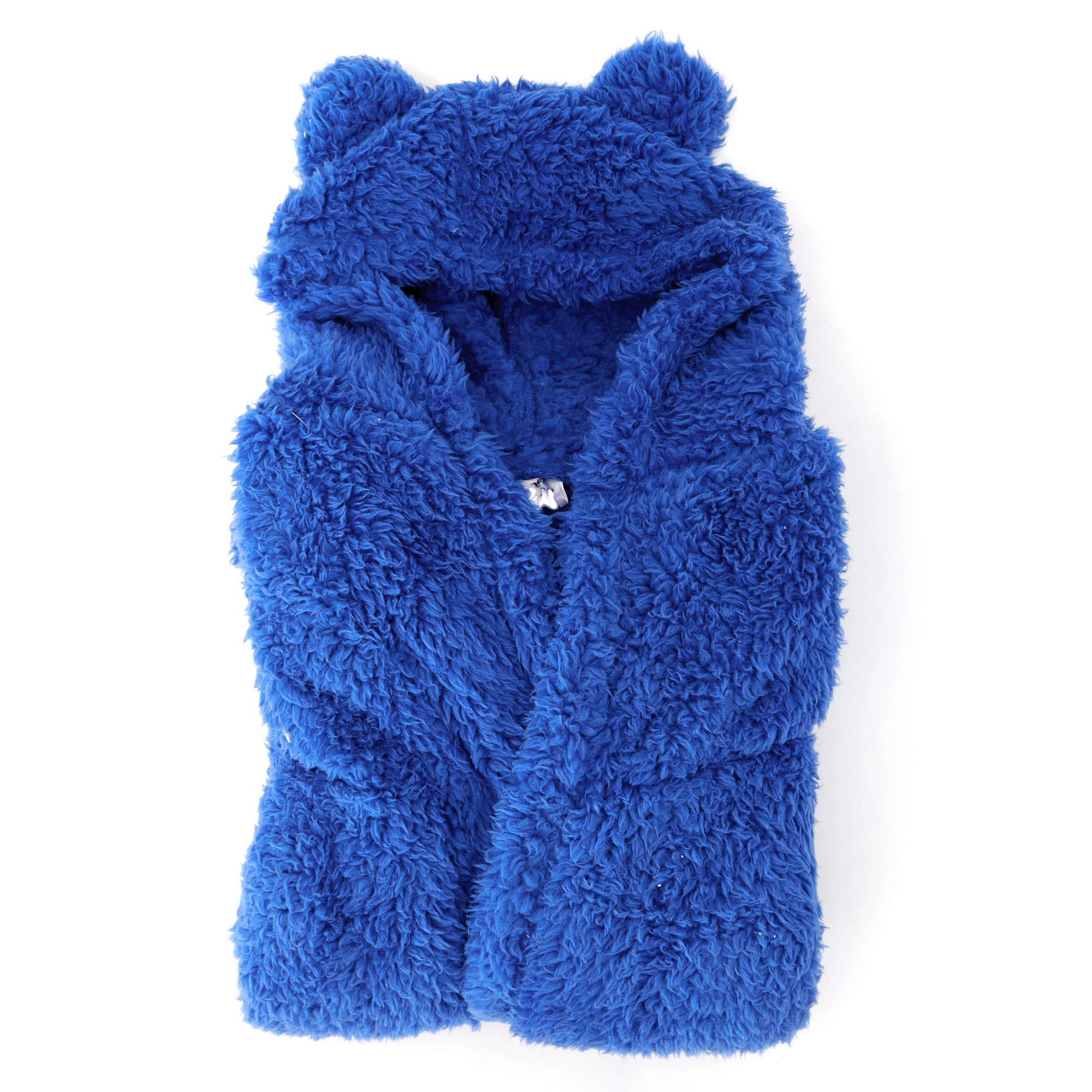 Boys Teddy Bear Navy Bathrobe